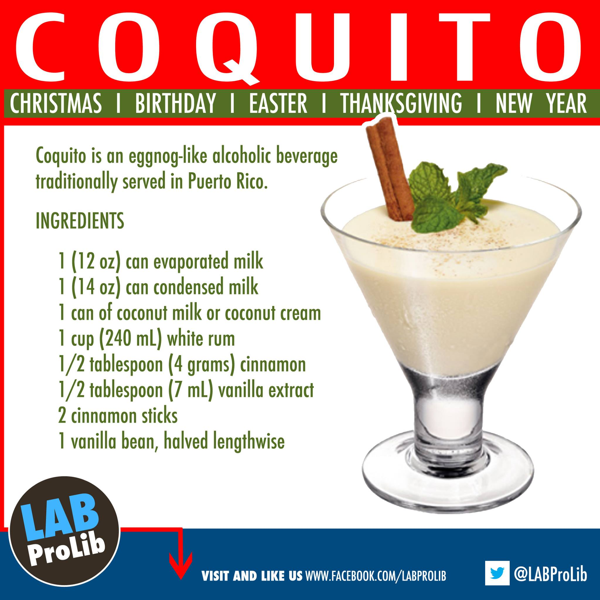Puerto Rican Christmas Alcoholic Drink